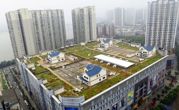 Elegant Green Roofed Shopping Mall In China Is Topped With 4 Rooftop Villas |  Inhabitat   Green Design, Innovation, Architecture, Green Building