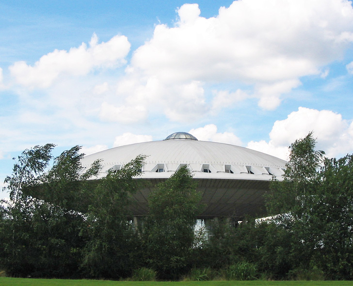Eindhoven's Colossal UFO-Shaped Evoluon Center is Out of this World!