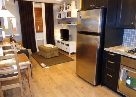 photos see inside ikea brooklyn 39 s tiny 391 sq ft model apartment. Black Bedroom Furniture Sets. Home Design Ideas