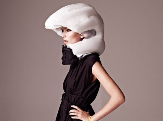 invisible bike helmet, ecouterre, biking, cyclists, fashion forward cycling, Anna Haupt and Terese Alstin, Swedish industrial designers Anna Haupt a