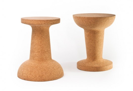 Cork, stools, chairs, design, Kenyon Yeh, sustainable furniture