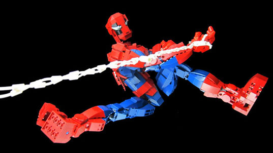 lego, lego toys, lego figurine, spiderman, amazing spiderman, lego spiderman, Michael McCooey, LegoCuusoo, design, green design, eco design, sustainable design, lego design, lego action figures, action figures, green toys, spiderman action figure