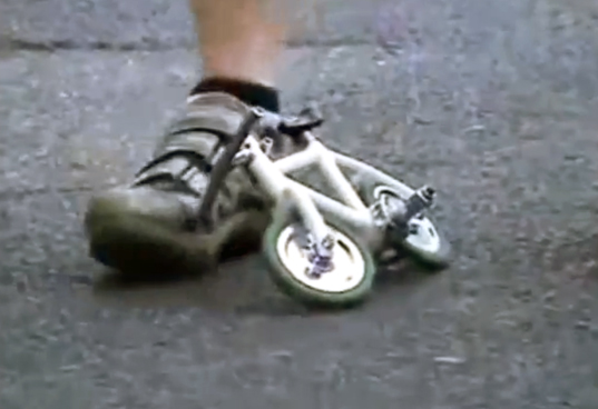 minivelo, world's smallest working bike, tiniest working bike, youtube, bike, bicycle,
