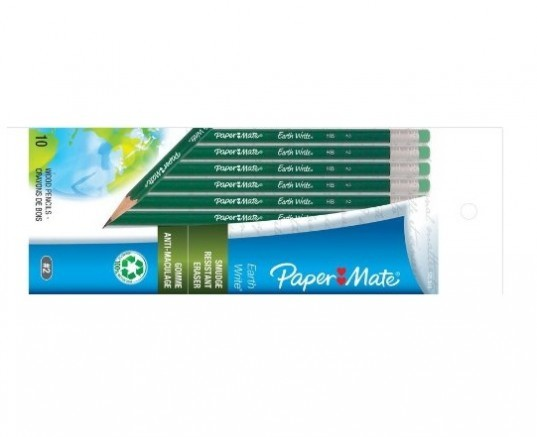 Paper Mate, Earth Write, 100% recycled pencils, recycled pencils, back to school, school supplies