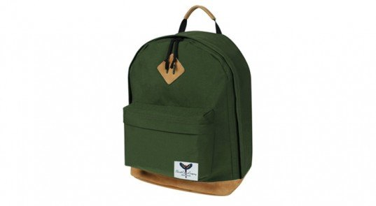 Parrot Canvas Uwharrie Day pack, made in usa, usa-made backpack, Top 6 Green Backpacks, Back to School, green backpacks, green bags, sustainable design, green design, sustainable style, sustainable school backpacks, eco bags, sustainable satchels, green bookbags, college student bags