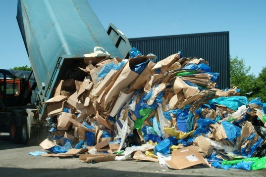 recycled packaging, recycling, recycled cardboard, recycled plastic, landfill