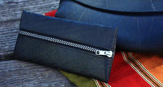recycled rubber, pencil case, fair trade, Asha Handcrafts Association, recycled tire pencil case