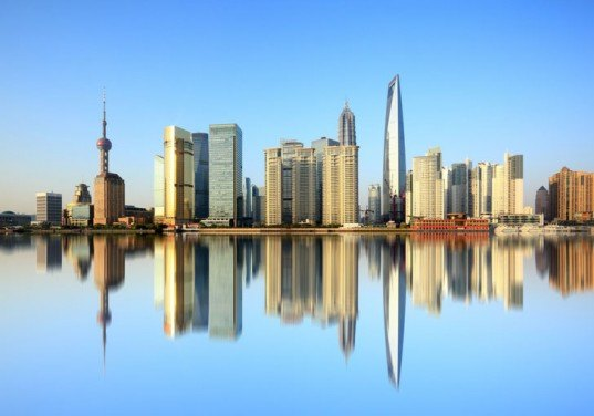 Shanghia skyline, Shanghai, Shanghai skyscrapers, Shanghai reflection