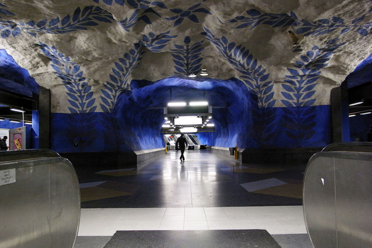 Stockholms Subway System Is The Worlds Largest Underground Art