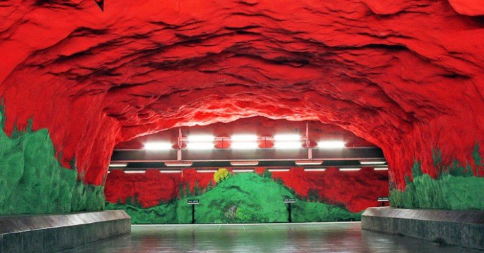 Stockholm S Subway System Is The World S Largest Underground Art Museum