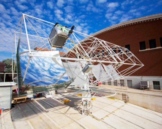 telescope solar panels, university of arizona, solar power, concentrated solar power, sustainable design, green design, renewable energy, clean tech, concentrated pv, concentrated photovoltaics
