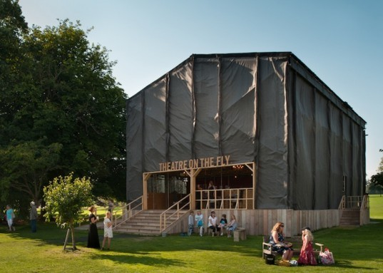 Theater on the Fly, West Sussex, England, Assemble, UK, recycled materials, temporary design, green design, sustainable design, eco-design, green design, Chichester Festival Theater