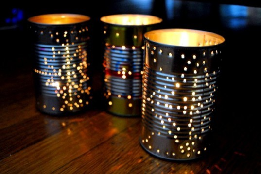 tin can lanterns, can lanterns, eco lanterns, diy lanterns, art lanterns