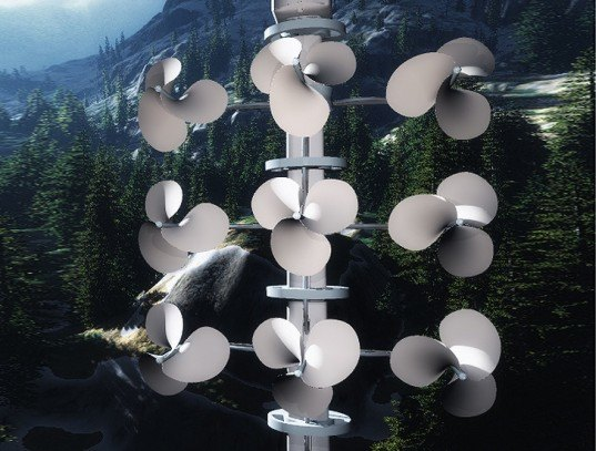 Asahi Kasei Plastics N.A., Unified Energies International, Windstrument, a nature-inspired wind turbine, wind energy, residential wind turbine, bird safe wind turbine, beautiful wind turbine, renewable energy