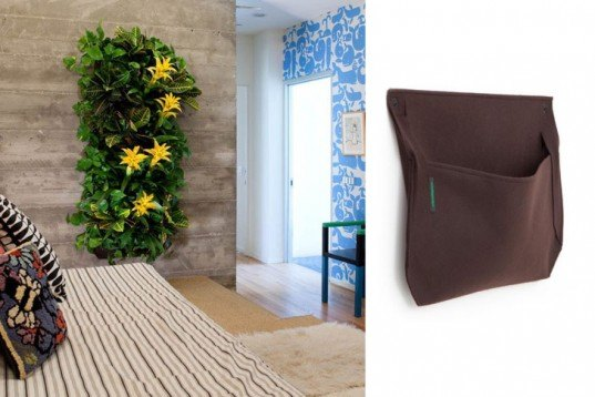wooly pocket wall planters, wooly pocket, wall planters, felt planters, eco friendly planters, vertical gardening