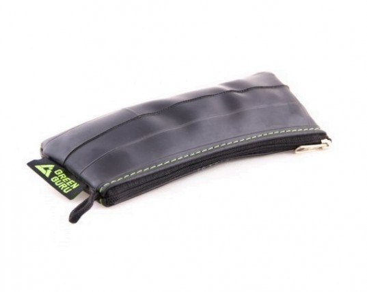 Green Guru Gear, medium zip pouch, pencil case, pens and pencils, school supplies, back to school