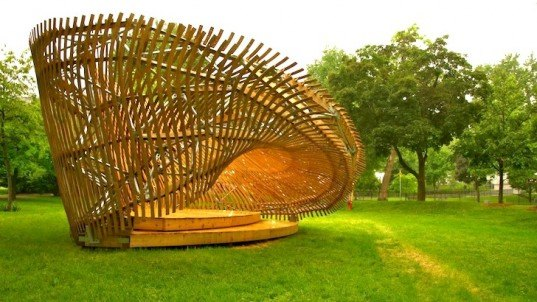 Twisted Contemplay Pavilion Is A Complex Piece Of Street