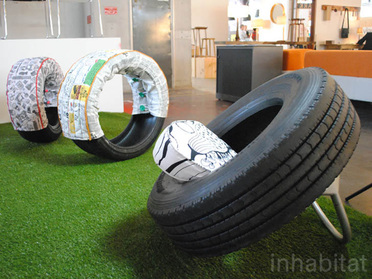 Recycled Tire Furniture By Rene Oliver At Designjunction 2012