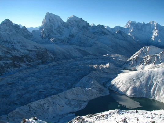 himalayas, himalayan mountain range, global warming, climate change, sherpas, glaciers, glacial lakes, retreating glaciers