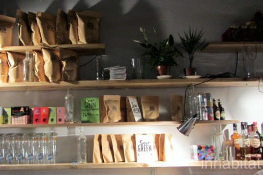 the glad cafe, glasgow, 2012, piano keys, coat hooks, green cafes, sustainable cafes, scotland, recycled furniture, interior design, southside,