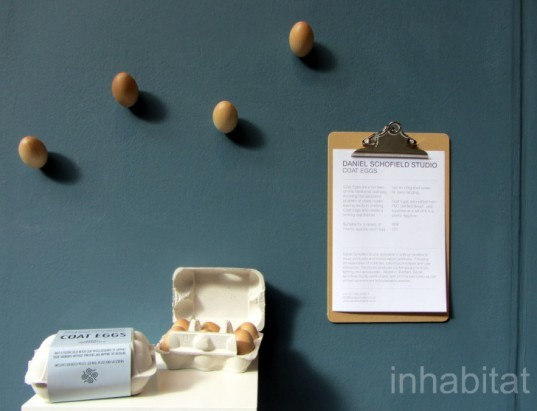 Daniel Schofield, Tent London, London Design Festival, 2012, Egg, hooks, fresh eggs,