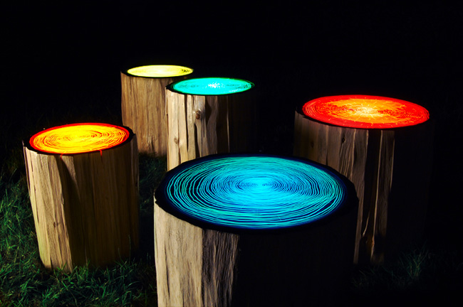 Straight Line Designu0027s Tree Rings Are Playful Stump Tables That Light Up A  Room | Inhabitat   Green Design, Innovation, Architecture, Green Building