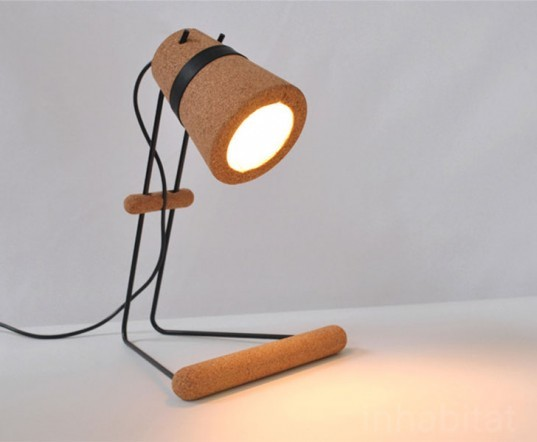 Kurk Lamp, Craig Foster, 100% Design, Emerging Designers, cork, lighting, eco design, sustainable design, green design