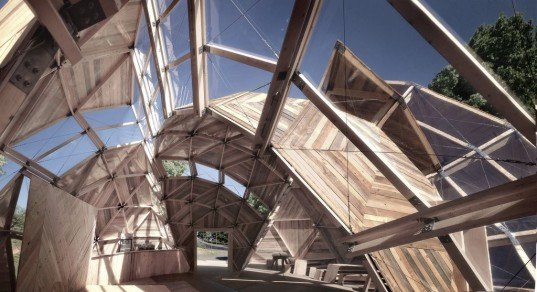 People Meeting Dome, Kristoffer Tejlgaard, Benny Jepsen, danish architecture, geodesic dome, deconstructed dome, timber lattice, prefab building