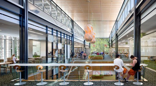 Los Gatos, Los Gatos Library, Noll & Tam Architects, sustainable, LEED Gold, daylighting, architecture, library