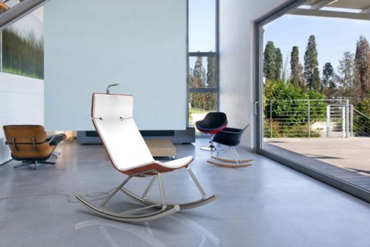 Otarky, Rocking Chair, Modern Furniture, Renewable Energy, Electric Generator, Electricity, Igor Gitelstain, Israel