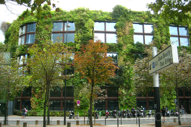 The Museé du Quai Branly in Paris Boasts a Lush 650-foot Green Wall by Patrick Blanc  Inhabitat ...