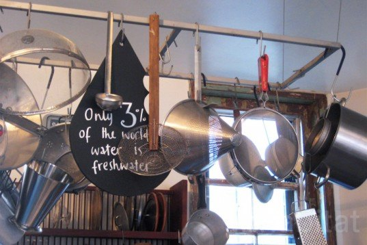 The Wonderwater Café, London Design Festival, Pop-Up shop, Leila´s Shop, East-London, water footprint, consciouss, agriculture, green Interiors, Water Issues, Sustainable Food