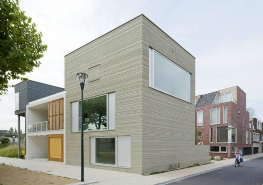 Stripe House, GAAGA, leiden, the netherlands, daylighting, live/work, townhouse, eco home