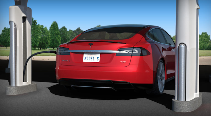 Tesla Unveils Six Free Solar Ed Electric Vehicle Chargers In California