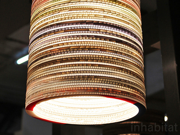 Striking Textured Lamps Made From Recycled Corrugated