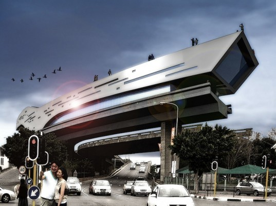 Tsai Design, Unfinished Highway, Cape Town, South Africa, urban design, visserhoek shipping container, wind energy, solar energy, public space, green design, sustainable design, eco-design