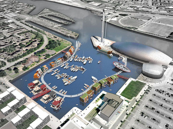 World 39 s first floating village unveiled by baca for Architecture design for home in village