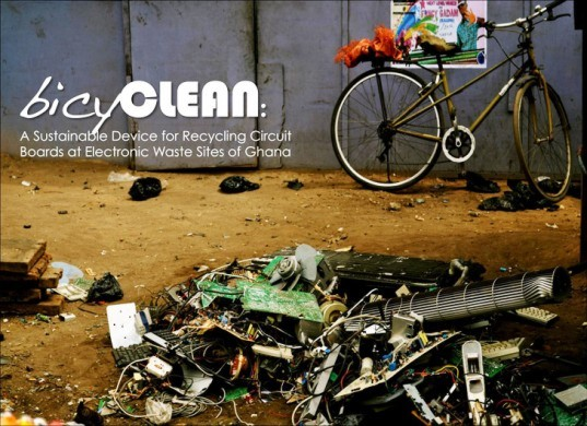 bicyclean, e-waste, rachel field, seperator, ghana, bicycle, pedal-powered, james dyson award
