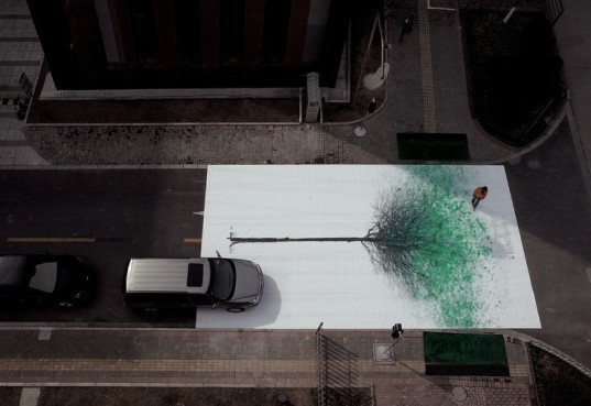 green art, eco-art, art, alternative transportation, China, Shanghai, green advertising campaign, advertising campaign, transport, eco-friendly transportation