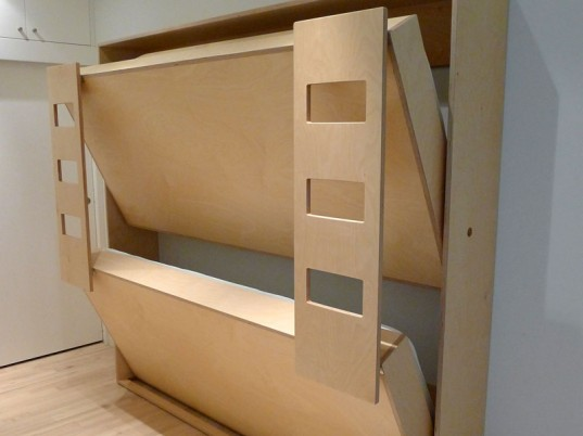 Roberto Gil, Casa Kids, Dumbo Double Murphy Bed, Casa Kids Furniture, formaldehyde and particle board free, water-based, non-toxic acrylic, zero VOC's, murphy bed, inhabitots