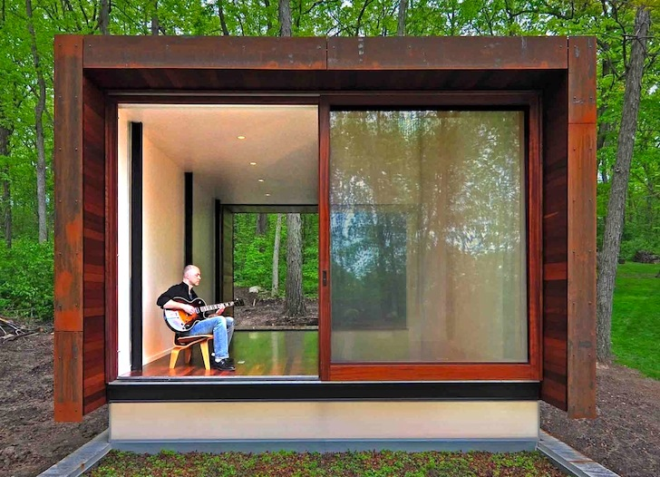 Steel Clad Studio For A Country Western Musician Is An