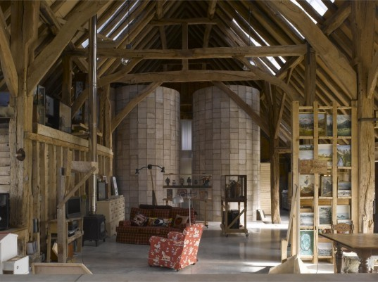 Feeringbury, Upcycled, Medieval Barn, architecture, restoration, reclaimed wood, reclaimed metal, Hudson Architects
