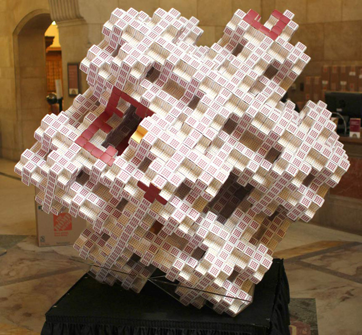 49,000 Folded Business Cards Needed to Complete New 3D Fractal Model ...