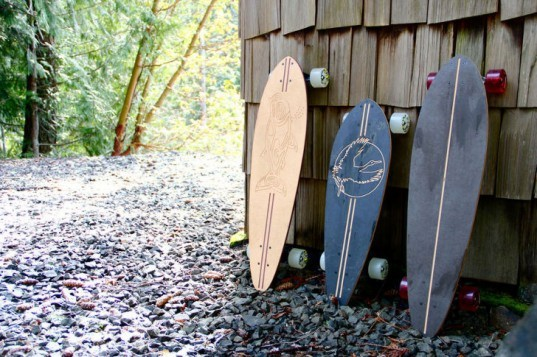 grow anthology, longboard, skateboard, recycled materials, recycled paper, recycled sports equipment