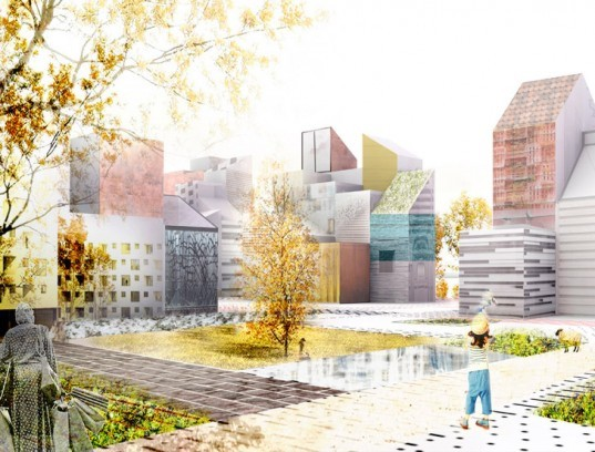 ooiio, patchwork city, sustainable design, green design, urban design, green city planning, sweden, ooiio architecture, masterplan, sustainable architecture, green design, sustainable urban design, futuristic city