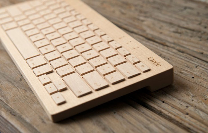 wireless wooden keyboard, tent london, 2012, london design festival, eco design, green design, oree board, bluetooth technology