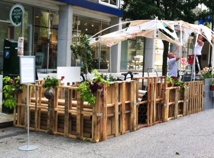 park ing day 2012 photos of the best pop up parks from coast to coast. Black Bedroom Furniture Sets. Home Design Ideas