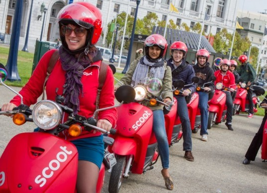 Scoot Networks, scooter-sharing service, San Francisco, electric scooters, Scoot,
