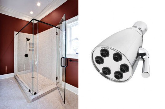 anystream shower head, water saving shower head, water efficient showed head, modern shower, water saving shower, shower head