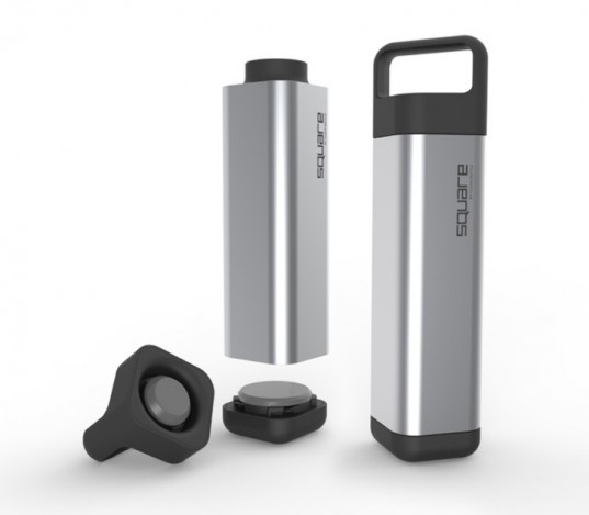 the square, water bottle, stainless steel, david mayer, ends